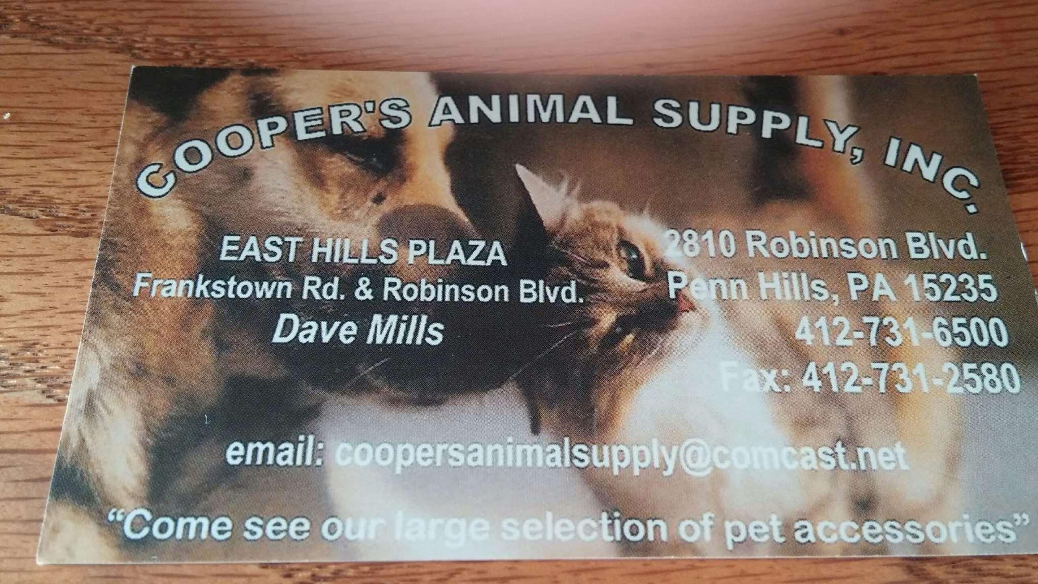 Cooper's Animal Supply, Inc.