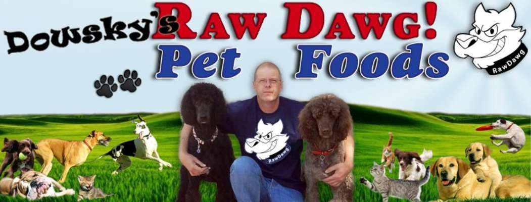 Dowsky's Raw Dawg and cat!