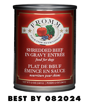 Four-Star Shredded Beef in Gravy Entrée Food for Dogs