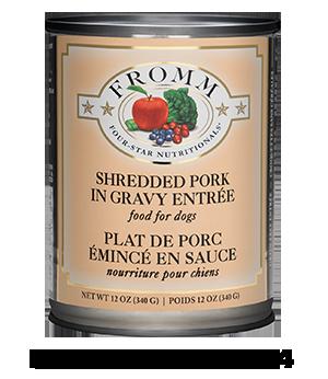 Four-Star Shredded Pork in Gravy Entrée Food for Dogs