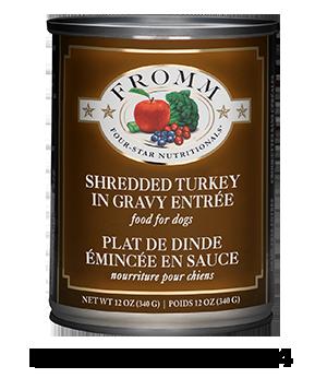 Four-Star Shredded Turkey in Gravy Entrée Food for Dogs